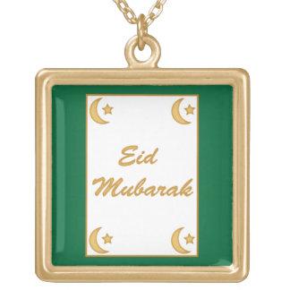 Al Fitr de Eid Mubarak Eid Collar Dorado