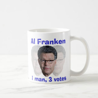 Al Franken: 1 hombre, 3 votos Taza Clásica