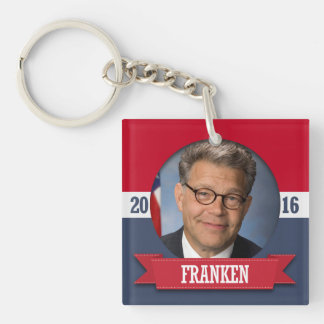 AL FRANKEN 2016 Double-Sided SQUARE ACRYLIC KEYCHAIN