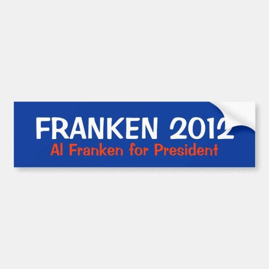 Al Franken for President 2012 Bumper Sticker