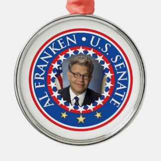 Al Franken U.S. Senate Metal Ornament