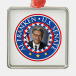 Al Franken U.S. Senate Square Metal Christmas Ornament