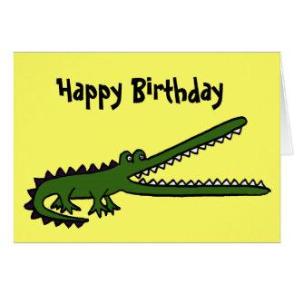 AL- Funny Crocodile Birthday Card