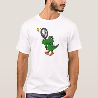 AL- Funny Gator Playing Tennis T-Shirt