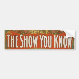 Al. G. Field Greater Minstrels Vintage Poster Bumper Sticker