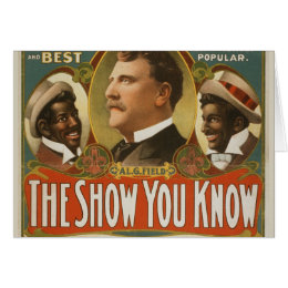 Al. G. Field Greater Minstrels Vintage Poster Card
