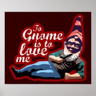 Al gnomo yo poster $18,95