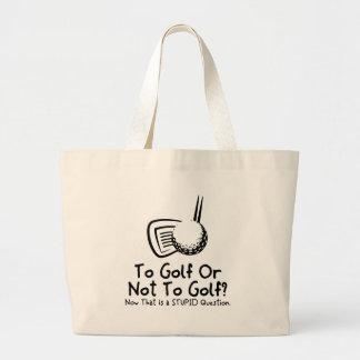 Al golf o no golf bolsa tela grande