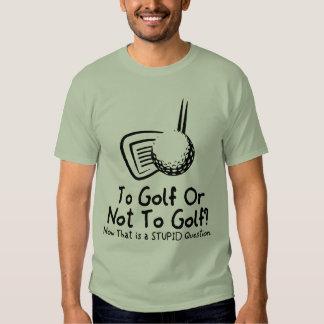 Al golf o no golf playeras
