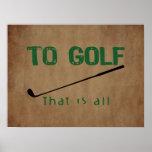 Al golf poster