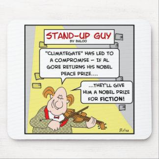 al gore climategate nobel prize fiction peace mouse pad