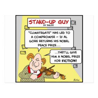 al gore climategate nobel prize fiction peace postcard