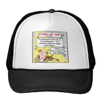 al gore climategate nobel prize fiction peace trucker hat