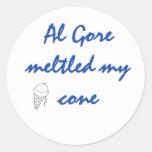 Al Gore derritió mi cono Etiqueta Redonda