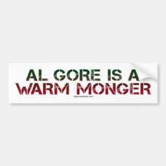 Al Gore es un tratante caliente Pegatina De Parachoque
