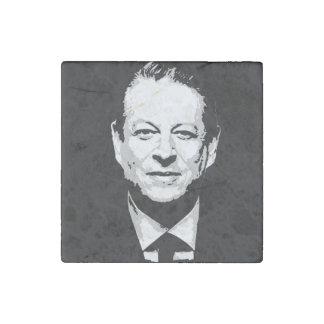 Al Gore Face Stone Magnet