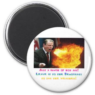 Al Gore Hot Air 2 Inch Round Magnet