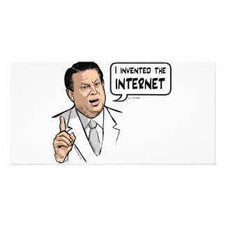 Al Gore, I invented the Internet Photo Card