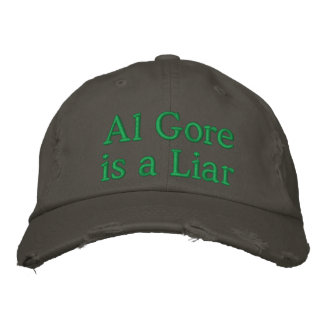 Al Gore is a LIAR Embroidered Baseball Hat