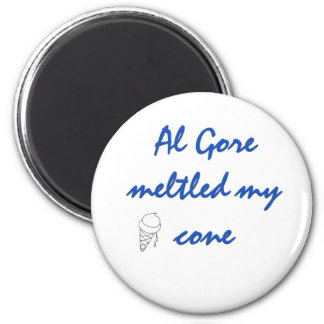 Al Gore  Melted my Cone 2 Inch Round Magnet