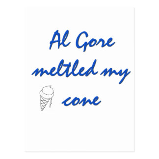 Al Gore  Melted my Cone Post Cards