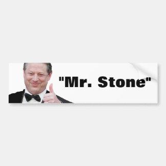 """Al Gore: """"Mr. Stone"""" Car Bumper Sticker"""