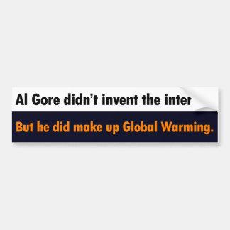 Al Gore no inventó a la pegatina para el parachoqu Etiqueta De Parachoque