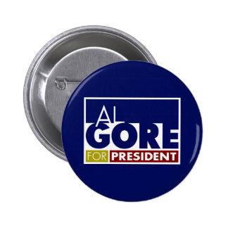 Al Gore para presidente V1 Pins