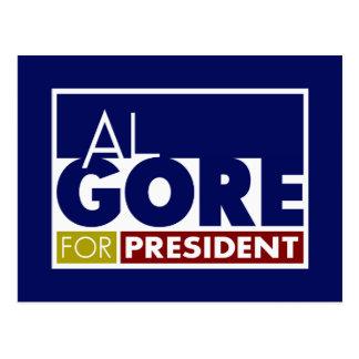 Al Gore para presidente V1 Tarjetas Postales