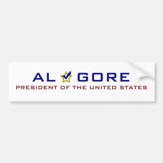 Al Gore President USA V2 Bumper Sticker