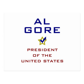 Al Gore President USA V2 Postcard