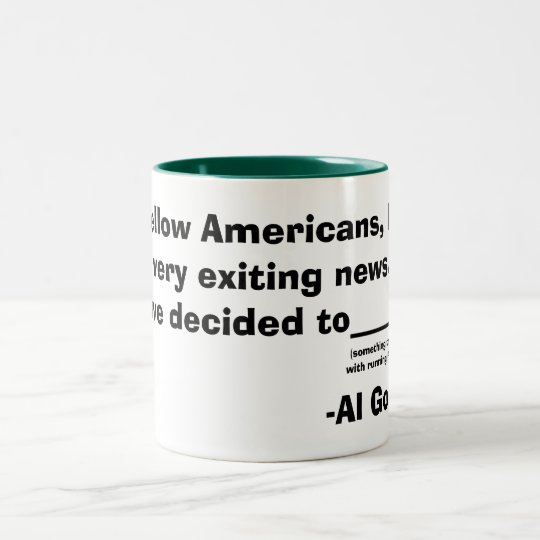 Al Gore Two-Tone Coffee Mug
