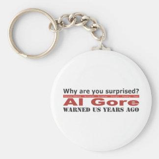 Al Gore Warned Us Keychain