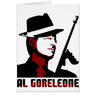 AL GORELEONE GREETING CARD