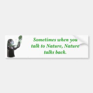 Al hablar con la pegatina para el parachoques de l etiqueta de parachoque