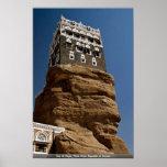 Al-Hajar de Dar, lecho de un río seco Dhar, Repúbl Póster
