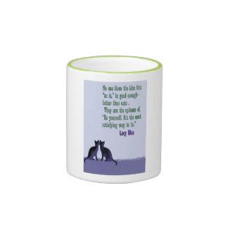 """""""Al igual que"""" la taza del gato para los amantes d"""