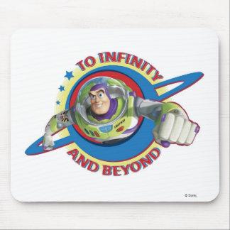Al infinito y más allá del logotipo Disney Alfombrillas De Raton