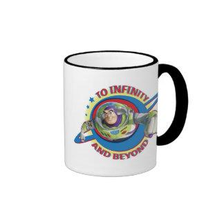 Al infinito y más allá del logotipo Disney Taza De Dos Colores