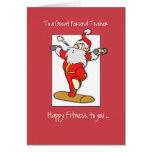 Al ingenio personal del navidad del ejercicio de tarjeta de felicitación