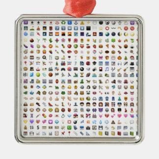 Al iPhone/iOS emojis Metal Ornament