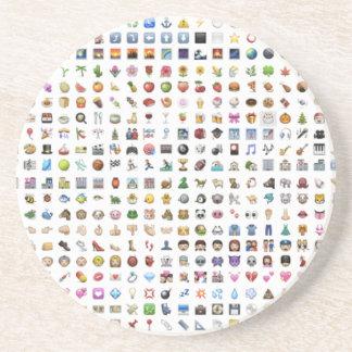 Al iPhone/iOS emojis Sandstone Coaster
