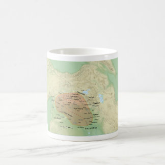Al-Jazira Regional Map and it's Subdivisions Coffee Mug