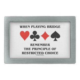 Al jugar principio del puente de opción restricta hebilla cinturon rectangular
