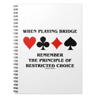 Al jugar principio del puente de opción restricta libretas