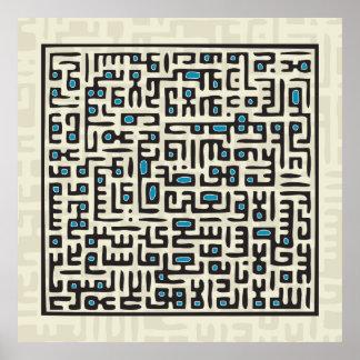Al Kursi - azul de Ayet Poster