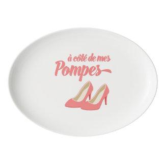 Al lado de mis zapatos - francés de Cote de Mes Badeja De Porcelana