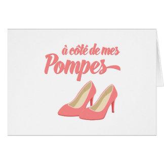 Al lado de mis zapatos - francés de Cote de Mes Tarjeta De Felicitación