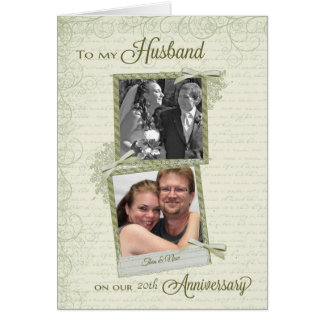 Al marido en el aniversario del __th - tarjeta de felicitación