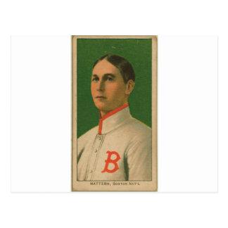 Al Mattern, Boston Doves/Boston Rustlers Postcard